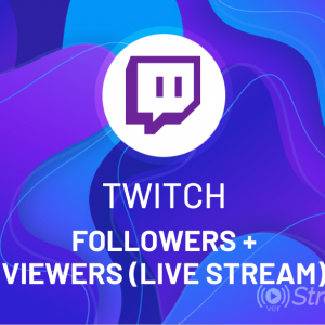 Buy Twitch Followers + Viewers (Live Stream)
